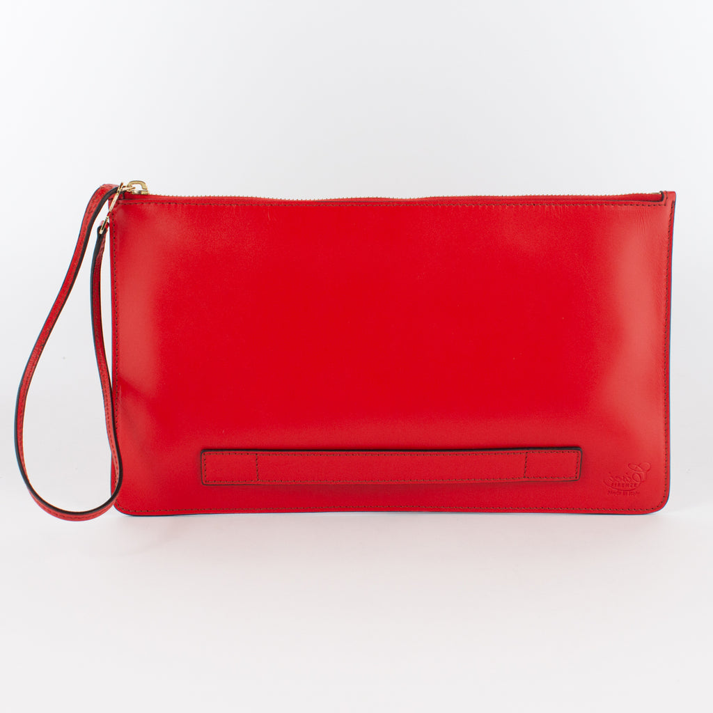 1183M LM POUCH WITH HANDLE Col.Rosso