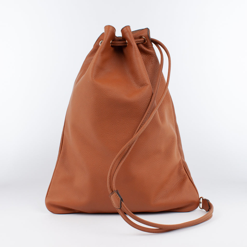 1201 LD DRAWSTRING BAG-L Col.Marrone