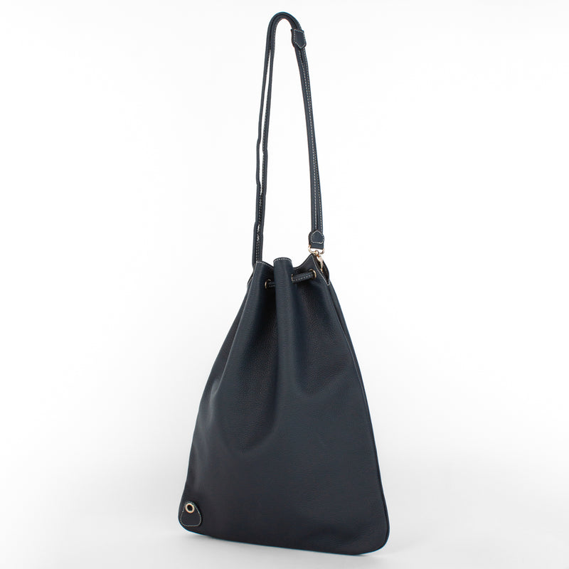 1201 LD DRAWSTRING BAG-L Col.Navy(W)