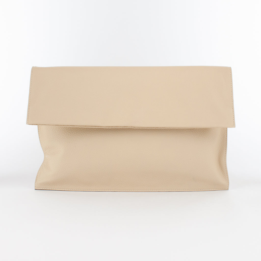 1210 LD FOLDING CLUTCH BAG Col.Beige