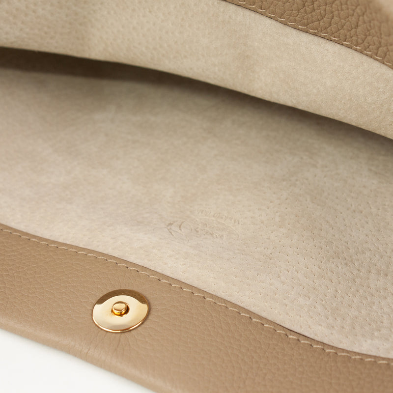 1210 LD FOLDING CLUTCH BAG Col.Taupe