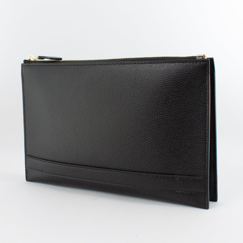 1233 MF 2ROOMS CLUTCH BAG WITH HANDLE Col.Nero