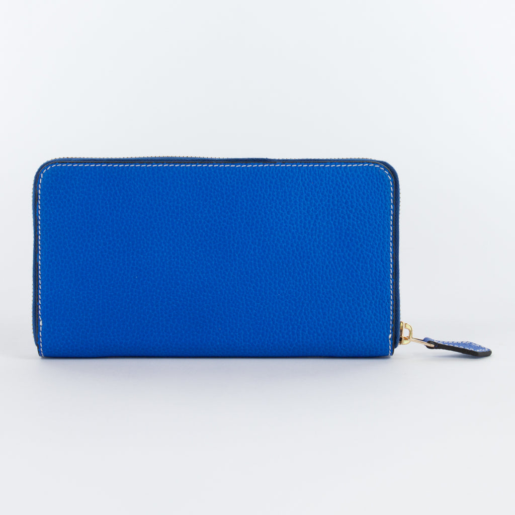 P0967 LD ZIP LONG WALLET Col.Blu