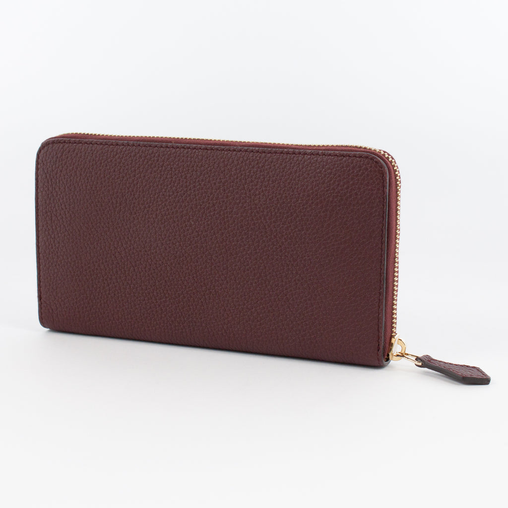 P0967 LD ZIP LONG WALLET Col.Bordeaux