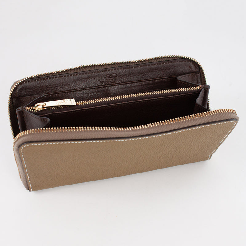 P0967 LD ZIP LONG WALLET Col.Kaki