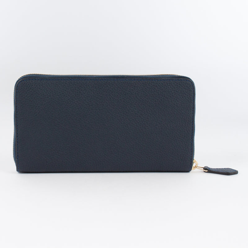 P0967 LD ZIP LONG WALLET Col.Navy(T)