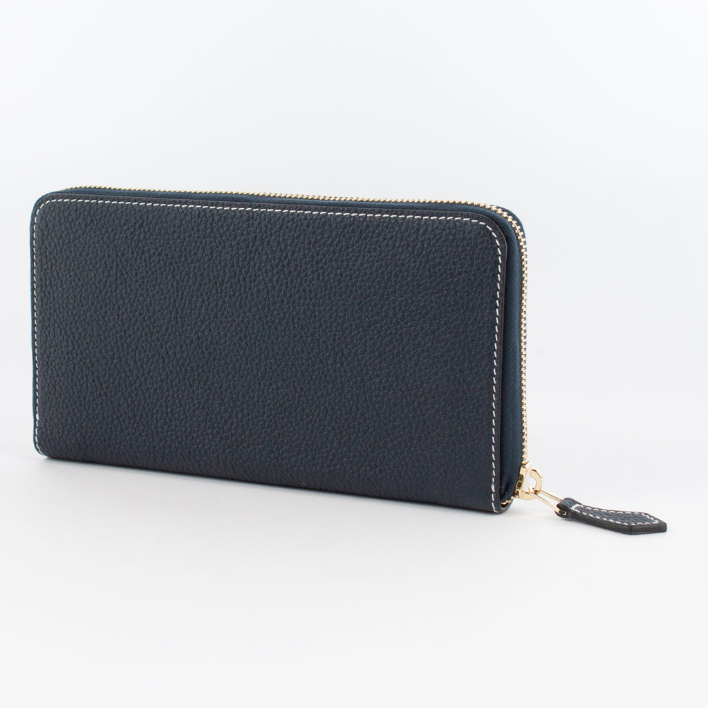 P0967 LD ZIP LONG WALLET Col.Navy(W)