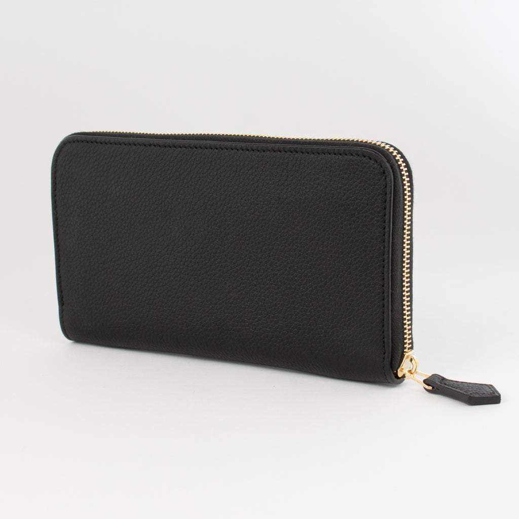 P0967 LD ZIP LONG WALLET Col.Nero(T)
