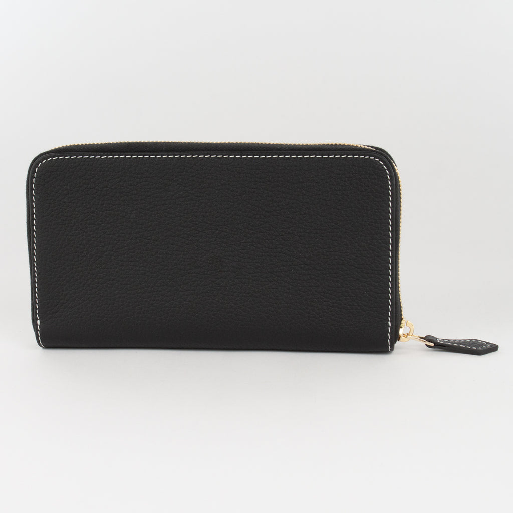 P0967 LD ZIP LONG WALLET Col.Nero(W)