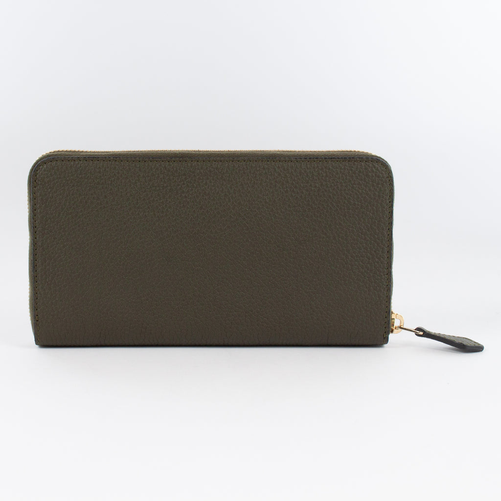P0967 LD ZIP LONG WALLET Col.VerdeScuro