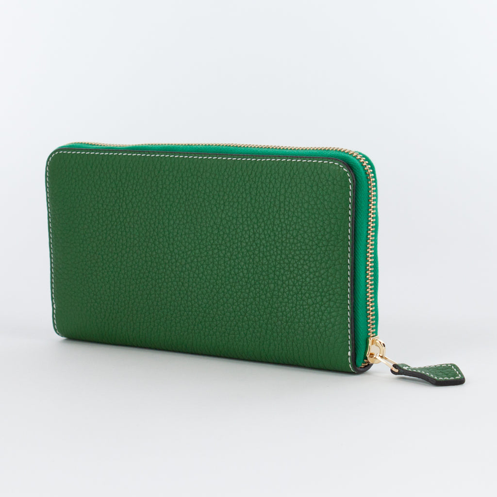 P0967 LD ZIP LONG WALLET Col.Verde