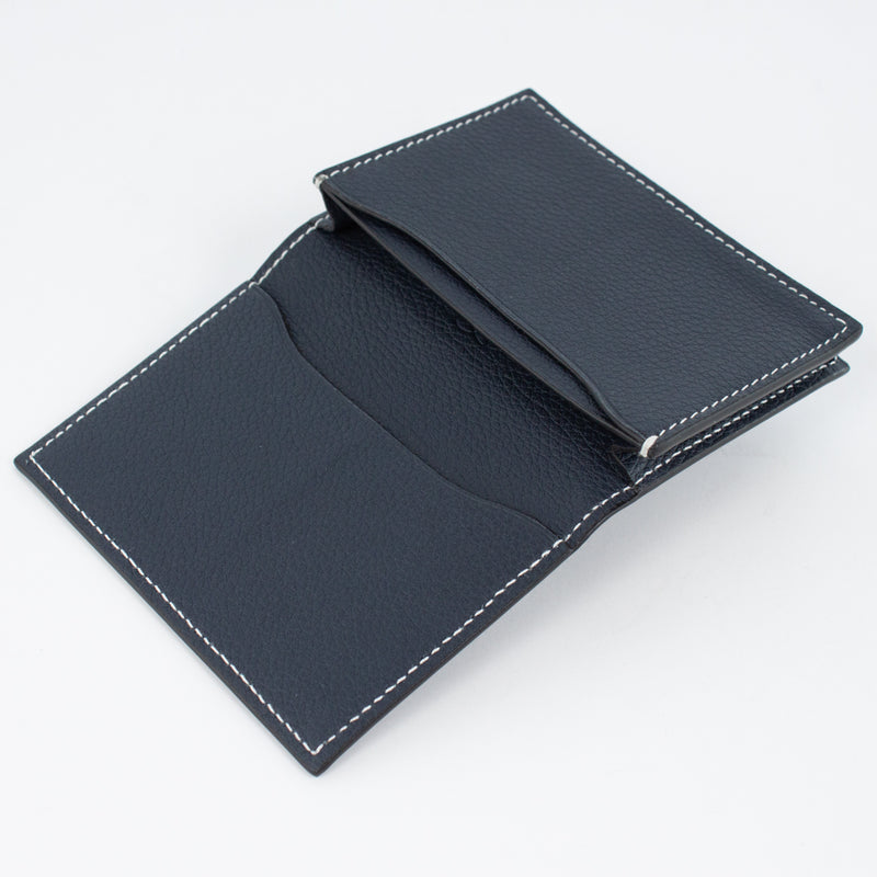 P1021 LD BUSINESS CARD CASE Col.Navy(W)