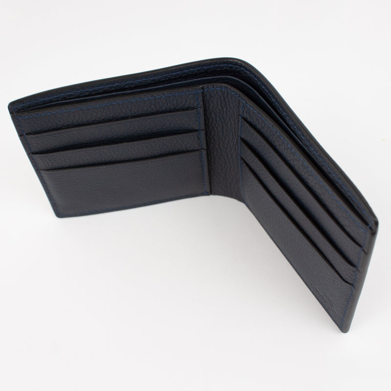 P1022 LD FOLDING WALLET FOR 6 CARDS Col.Navy