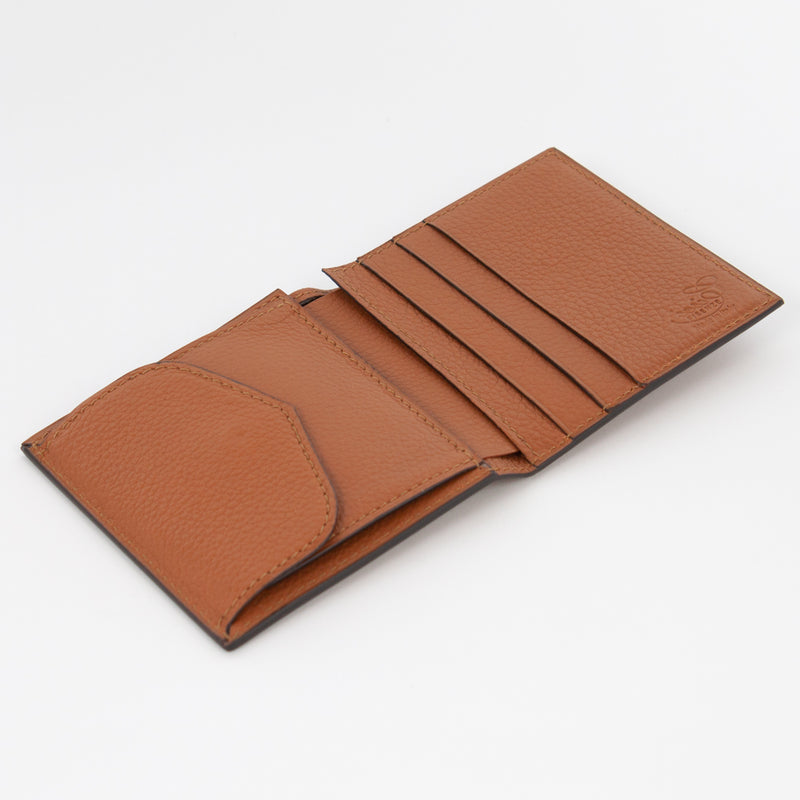P1023 LD FOLDING WALLET WITH COIN PURSE Col.Marrone