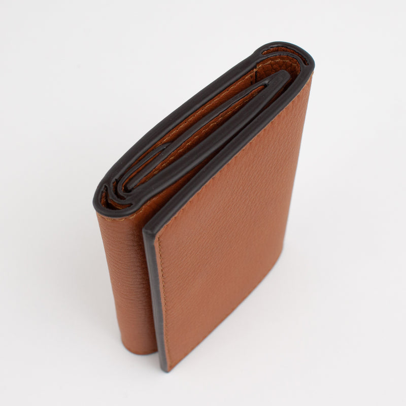 P1030 LD FOLDING WALLET WITH COIN PURSE Col.Marrone