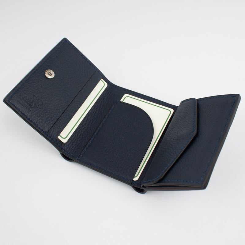 P1030 LD FOLDING WALLET WITH COIN PURSE Col.Navy