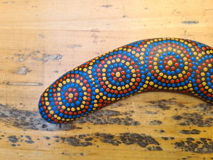 Rainbow Community - Medium - Hand-Painted Boomerang