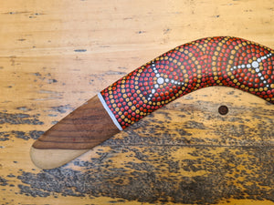 Sunrise Walking Track - Hunter - Hand-Painted Boomerang (LH)