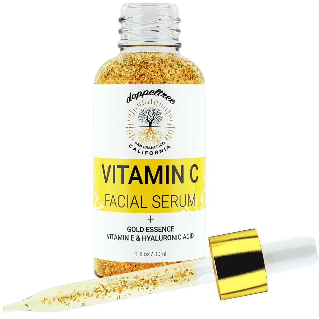 Feel Golden with our Vitamin-C Facial Serum... Brighter and Healthier Skin, Bottled-Doppeltree