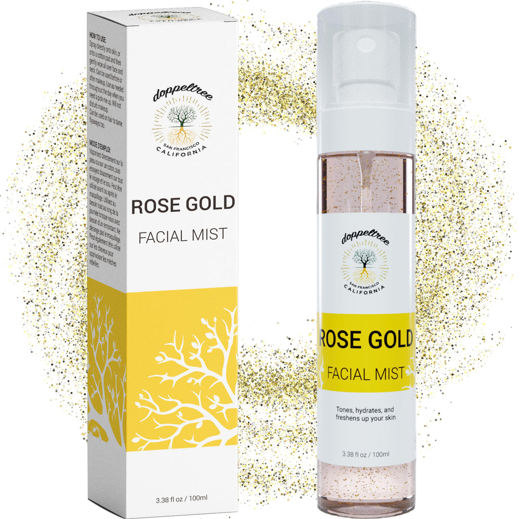 doppeltree rose water gold facial spray toner for face main2