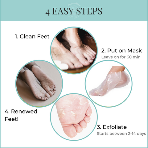 doppeltree foot peel mask 4 easy steps