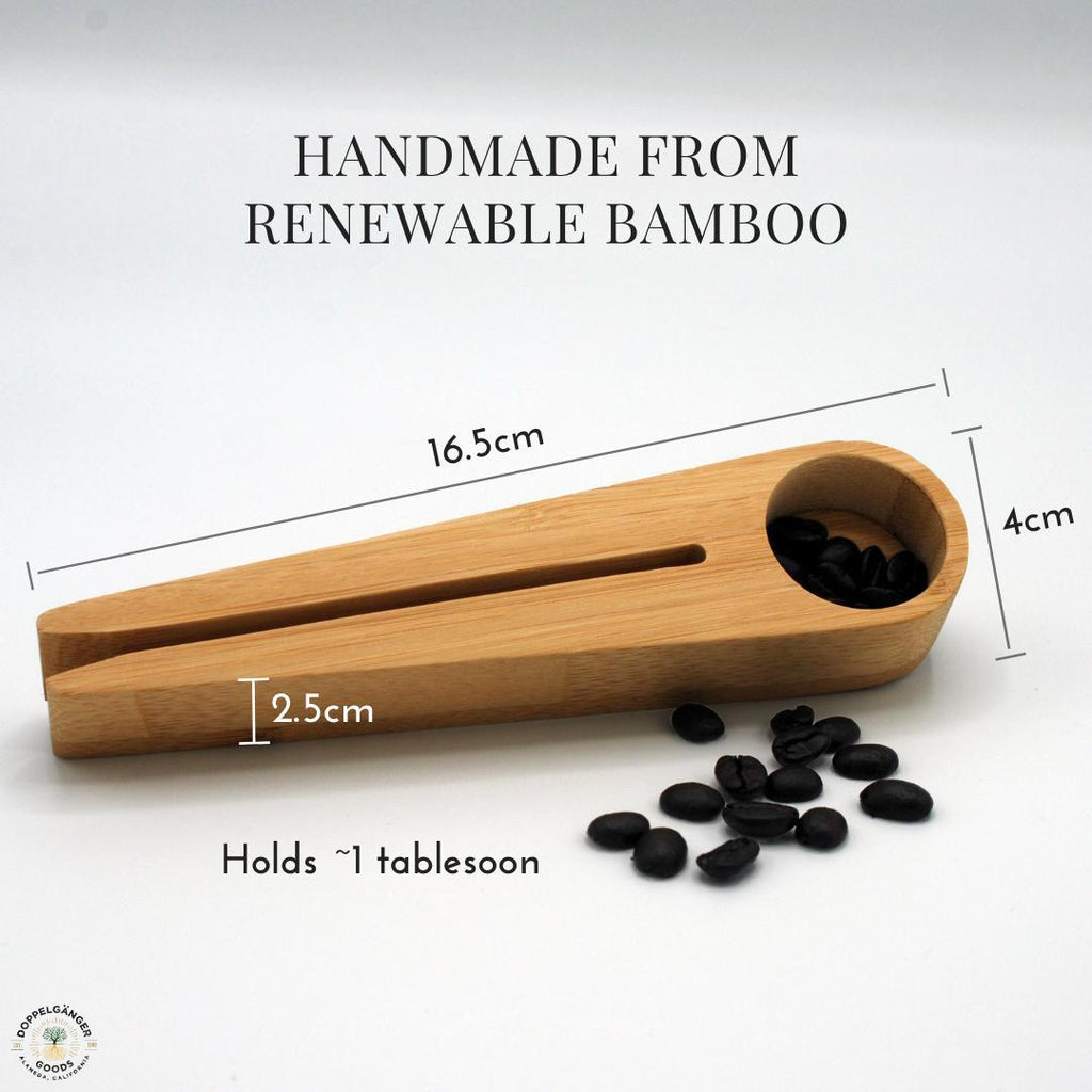 Bamboo Measuring Scoop and Bag Clip-Doppeltree