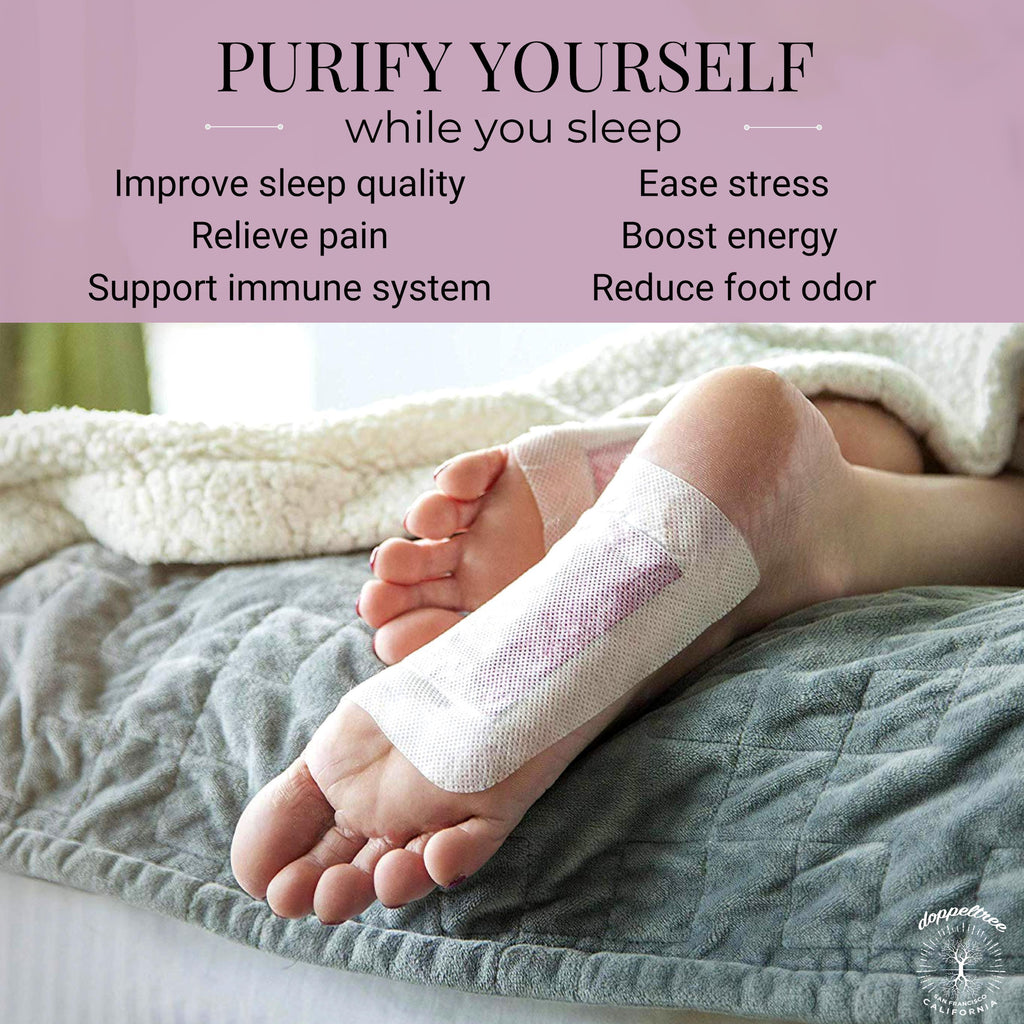 Detox Foot Pads for Better Sleep, Stress and Pain Relief | Lavender & Rose (20-pads) - Doppeltree
