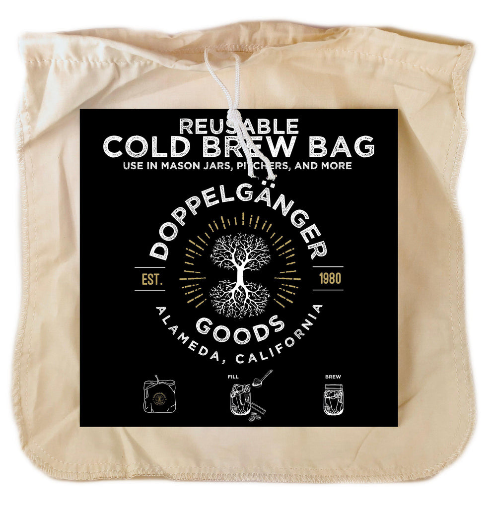 Organic Cotton Cold Brew Filter Bag 12in x 12in (Large)-Doppeltree