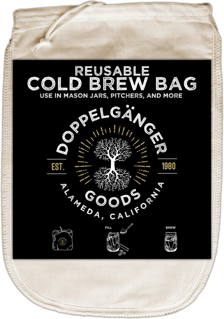 Organic Cotton Cold Brew Filter Bag 12in x 8in (Medium) - Doppeltree