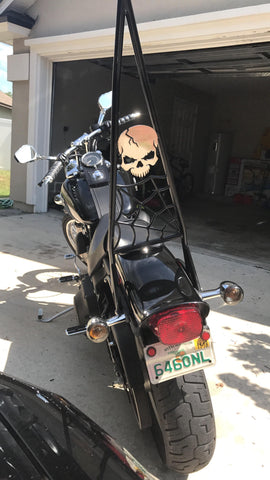 "Fortress motorcycle custom ""Pennywise"" sissybar"