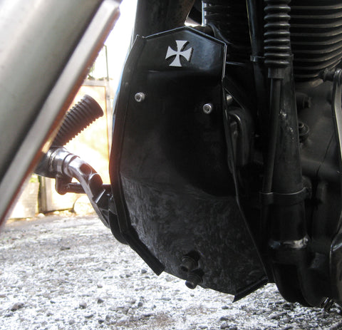 "Fortress Motorcycle custom ""Sentinel"" splash guard"