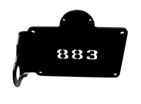"Fortress Motorcycle custom ""883"" license plate holder"