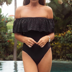 Off-Shoulder One Piece Swimsuit - fancyhomey