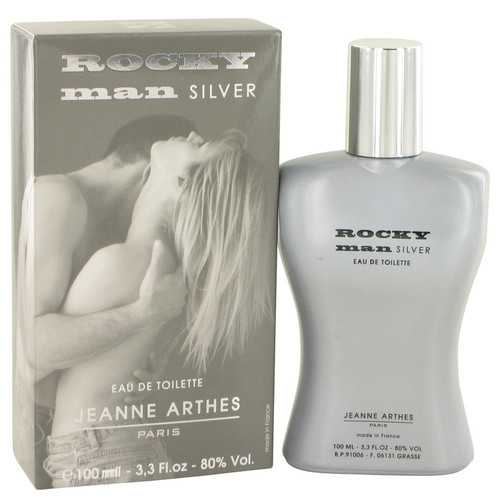 Rocky Man Silver by Jeanne Arthes Eau De Toilette Spray 3.3 oz (Men)