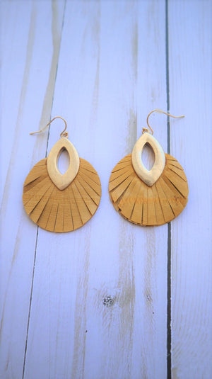 Evening Sun Earrings Mustard