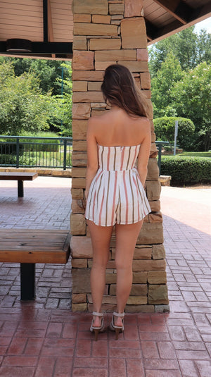 Summer Feels Strapless Romper