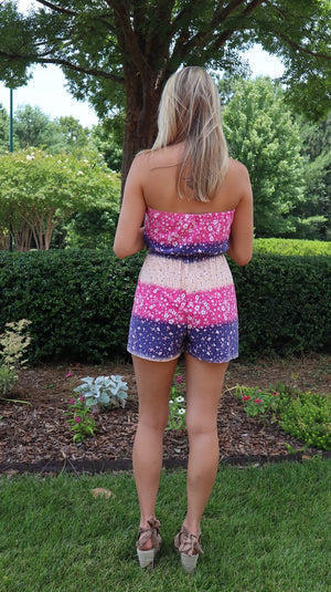 Ombre Sunset Mini Romper Pink/Purple