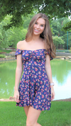 Summer Festive Mini Dress Navy