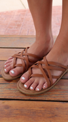 The Maren Strappy Sandal Tan