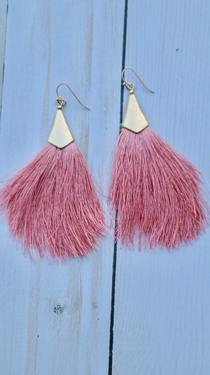 Shimmy and Shake Earrings Pink