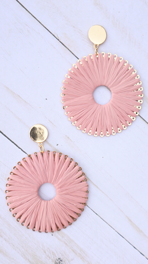 Blushing Over Summer Earrings Blush