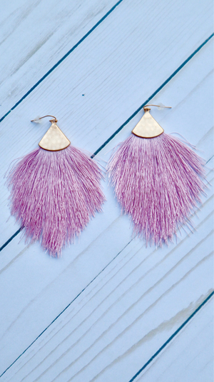 Shimmy and Shine Earrings Lavender