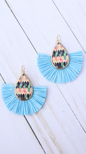 Too Good To Be Blue Earrings