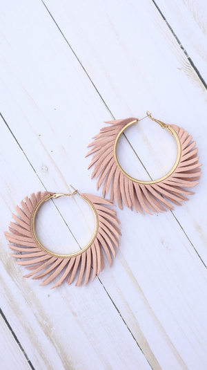 Fringe Into The Summer Earrings Blush