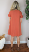 Baby I'm A Classic Dress Terracotta