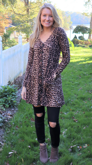 Wild Flair Dress Leopard