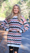 Cozy And In Love Sweater Dress Dust Pink