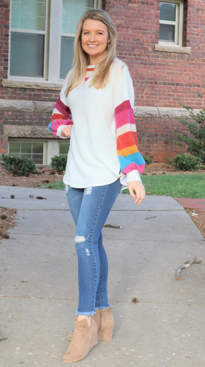 Color Me Fall Sweater Off White Mix