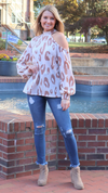 Sassy Print Sweater Cream Leopard
