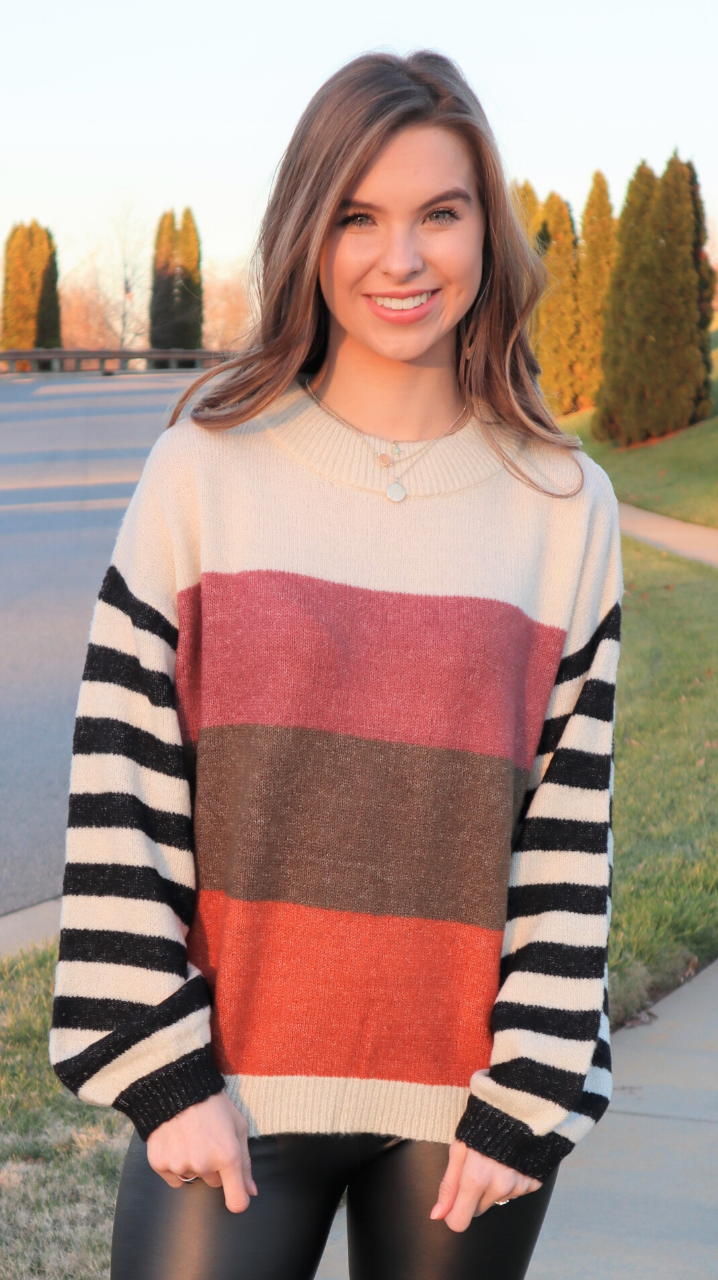 Colorful Season Sweater Rust Multi